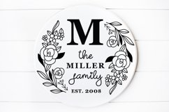 Family Monogram , Family Last Name Round sign svg Product Image 1