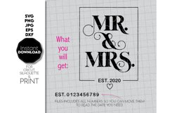 Wedding sign SVG, Mr and Mrs SVG, Just Married Shirts Product Image 2