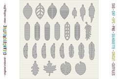 Set of 26 Faux Leather Earrings - SVG DXF EPS PNG craft file Product Image 2