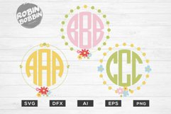 Easter Monogram Frames SVG - Happy Easter SVG Files Product Image 1