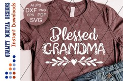 Blessed Grandma Svg Heart clipart Thanksgiving shirt Product Image 1