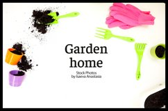 white background with garden tools Product Image 1