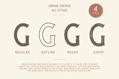 Giroud Vintage Font Family Bonus Logo Product Image 5