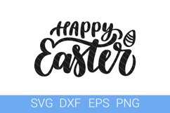 Easter SVG file, Happy Easter hand lettering Product Image 1