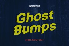 GhostBumps - Scary Display Font Product Image 1