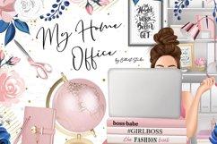 Planner girl clipart, girlboss Businesswoman blogger Product Image 1
