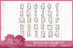 Pink Polkadots Monogram Alphabet Bundle Clipart Graphics Wor Product Image 3