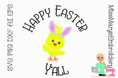 Happy Easter Y'all SVG Cutting File Product Image 1