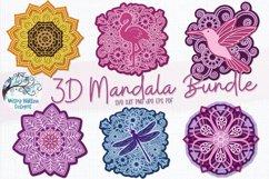 3D Mandala Bundle | 3D Layered Mandala SVG Bundle Product Image 1