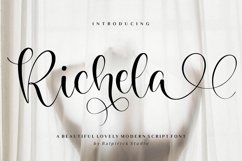 Richela Beautiful Lovely Modern Script Font Product Image 1
