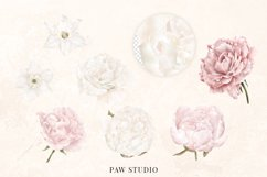 White Pink Flowers Winter Leaves Wedding Bride Clipart Product Image 2