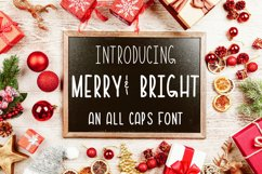 Merry & Bright All Caps Font Product Image 1