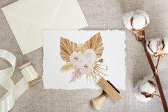 Boho floral clipart, spring flower elements Product Image 6