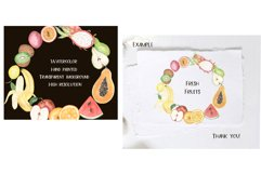Watercolor Fruits wreath clipart Product Image 2