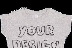 Toddler Gilrs Flat Jersey T Shirt Mockups - 17 Product Image 6