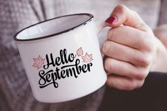 Hello September Lettering Phrase Text Graphic Product Image 3