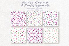 Spring Flowers and Hummingbirds Wanercolor Set Product Image 11