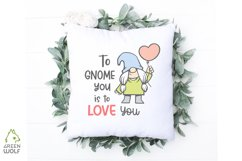 Girl gnome svg Valentine sublimation gnomes design Gnome png Product Image 5