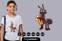 Ant Playing Music for T-Shirt Design Product Image 1