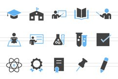 50 Academics Filled Blue & Black Icons Product Image 2