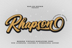 Rhapson Script Font Product Image 1