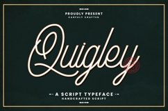Web Font Quigley Product Image 1