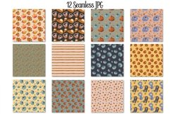 Watercolor Autumn Seamless Patterns Product Image 2
