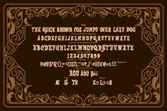 Salmon   Victorian Grunge Font Product Image 2