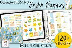 Easter Bunny Digital Printable Stickers Goodnotes PNG Product Image 1
