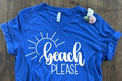 Beach Please SVG//cut file//SVG//PNG//Hand Drawn Product Image 1