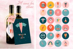 Romantic Valentine's Day. Love patterns, stickers and cards. Product Image 5