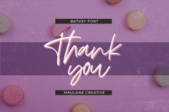 Bathsy Signature Brush Script Font Product Image 5