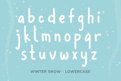 Winter Snow | Fun winter font Product Image 3