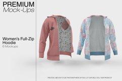 Women's Full-Zip Hoodie Mockup Product Image 1