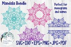 Mandala Bundle SVG Bundle   Monogram Mandala   Half Mandala Product Image 1