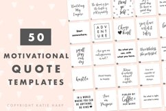 50 Motivational Quote Templates for Social Media Product Image 1