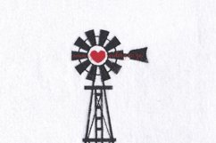 Windmill Red Heart Middle Center Machine Embroidery File Product Image 6