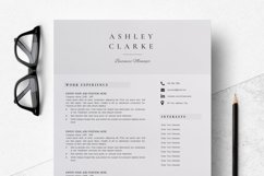 Resume Template   CV Cover Letter - Ashley Clarke Product Image 4