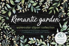 Romantic garden. Watercolor cliparts Product Image 1