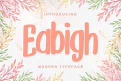 Eabigh | Modern Typeface Product Image 1