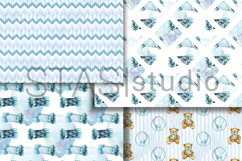 Baby Boy Paper Pack Blue Seamless Pattern New Baby Cute Set Product Image 2