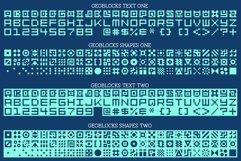 GeoBlocks - a geometric font set of blocks and shapes! Product Image 2