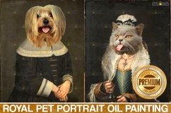 MEGA BUNDLE Royal Pet Portrait templates Digital pet Product Image 2