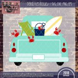 Beach Crab Fun Antique Truck SVG, DXF, PNG, EPS, JPEG Comm Product Image 2
