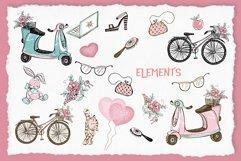 Cute Teen Girls 2, Digital Clipart, Fashion Girls, Valentine Product Image 5