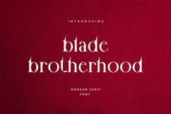 Blade Brotherhood Serif Typeface Font Product Image 1