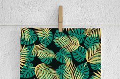 Gold Palm Leaves Backgrounds Product Image 2