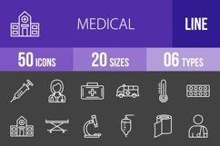 50 Medical Line Inverted Icons Season II Product Image 1