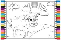 coloring sheep nanimal cartoon for kids Product Image 1