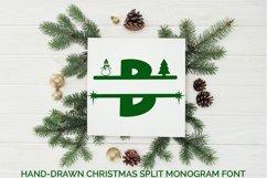 Hand-Drawn Christmas Split Monogram Font Product Image 1